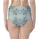 GREEN SNAKE TEXTURE High-Waist Bikini Bottoms View2
