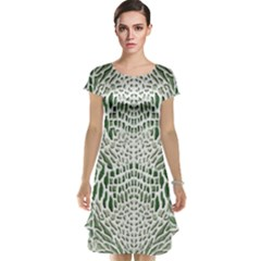 Green Snake Texture Cap Sleeve Nightdress