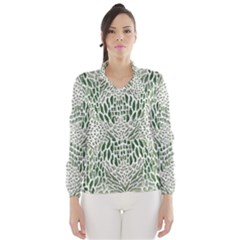 GREEN SNAKE TEXTURE Wind Breaker (Women)