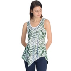 Green Snake Texture Sleeveless Tunic