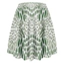 GREEN SNAKE TEXTURE High Waist Skirt View2