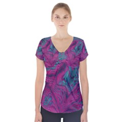 ASIA DRAGON Short Sleeve Front Detail Top