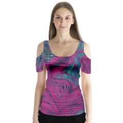 ASIA DRAGON Butterfly Sleeve Cutout Tee