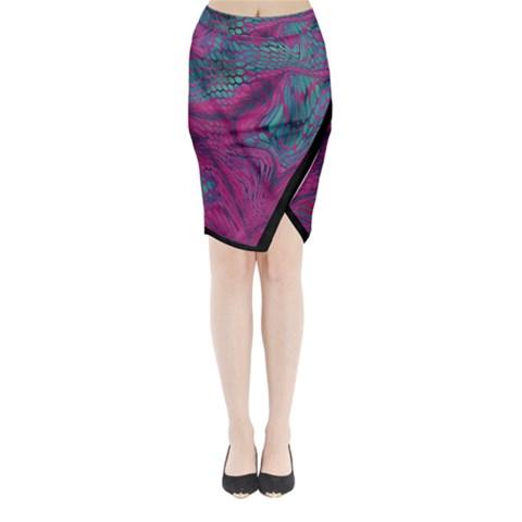 ASIA DRAGON Midi Wrap Pencil Skirt