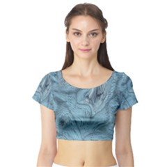 FROST DRAGON Short Sleeve Crop Top (Tight Fit)