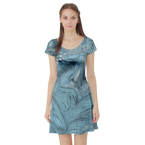 FROST DRAGON Short Sleeve Skater Dress