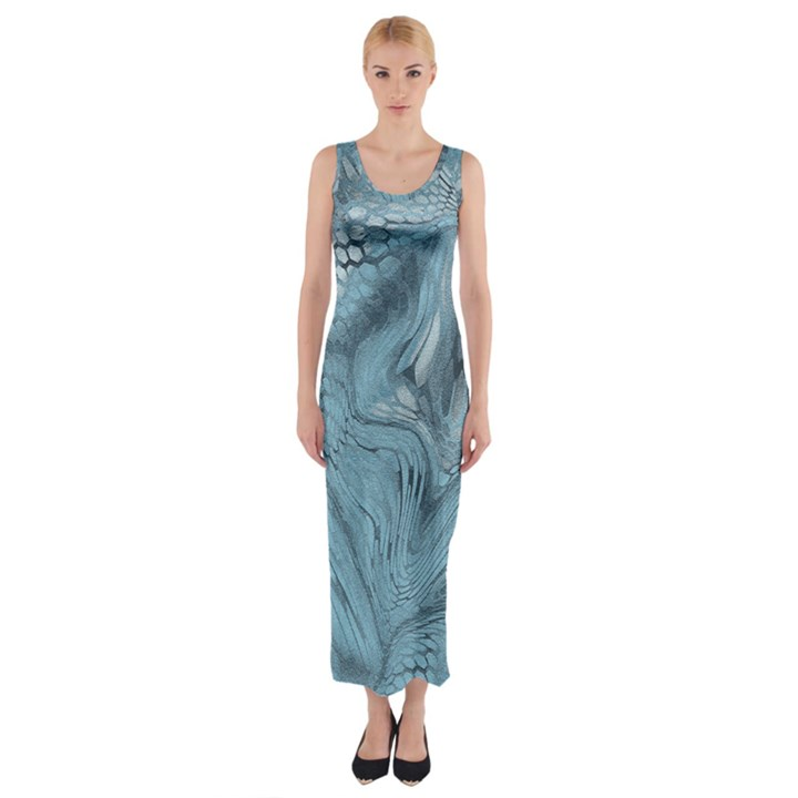 FROST DRAGON Fitted Maxi Dress