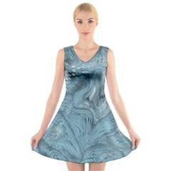 FROST DRAGON V-Neck Sleeveless Skater Dress