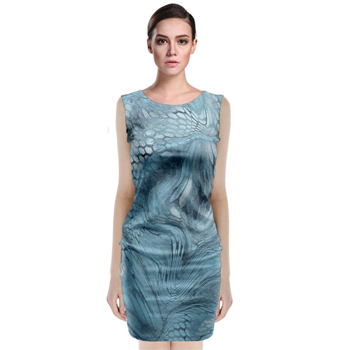 FROST DRAGON Classic Sleeveless Midi Dress