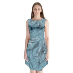 FROST DRAGON Sleeveless Chiffon Dress