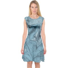 FROST DRAGON Capsleeve Midi Dress