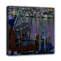 Christmas Boats In Harbor Mini Canvas 8  x 8  View1