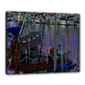 Christmas Boats In Harbor Canvas 20  x 16  View1
