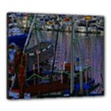 Christmas Boats In Harbor Canvas 24  x 20  View1