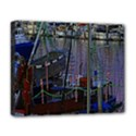 Christmas Boats In Harbor Deluxe Canvas 20  x 16   View1