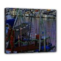 Christmas Boats In Harbor Deluxe Canvas 24  x 20   View1