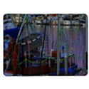 Christmas Boats In Harbor Kindle Fire (1st Gen) Flip Case View1