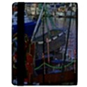 Christmas Boats In Harbor Kindle Fire (1st Gen) Flip Case View3