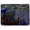 Christmas Boats In Harbor Samsung Galaxy Tab 7  P1000 Flip Case View1
