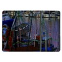 Christmas Boats In Harbor Samsung Galaxy Tab 10.1  P7500 Flip Case View1