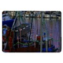 Christmas Boats In Harbor Samsung Galaxy Tab 8.9  P7300 Flip Case View1