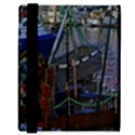Christmas Boats In Harbor Samsung Galaxy Tab 8.9  P7300 Flip Case View3
