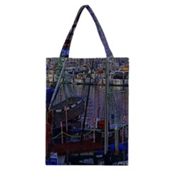 Christmas Boats In Harbor Classic Tote Bag
