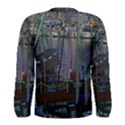 Christmas Boats In Harbor Men s Long Sleeve Tee View2