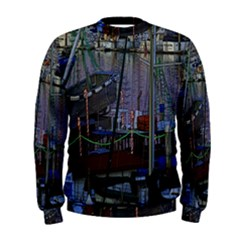 Christmas Boats In Harbor Men s Sweatshirt