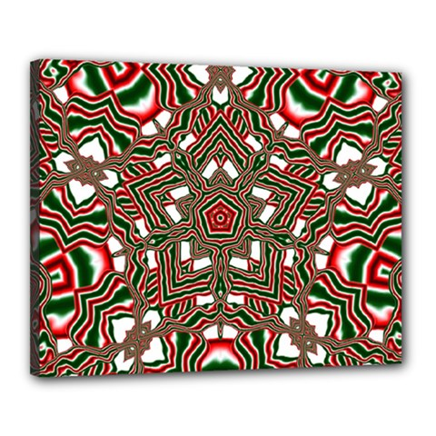 Christmas Kaleidoscope Canvas 20  x 16