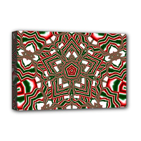 Christmas Kaleidoscope Deluxe Canvas 18  x 12