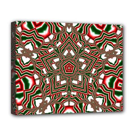 Christmas Kaleidoscope Deluxe Canvas 20  x 16