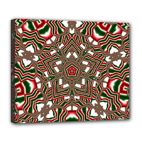 Christmas Kaleidoscope Deluxe Canvas 24  x 20