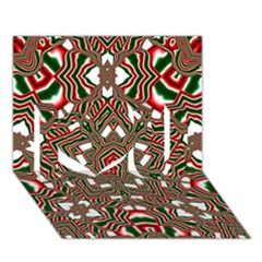 Christmas Kaleidoscope I Love You 3D Greeting Card (7x5)