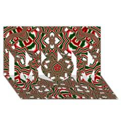 Christmas Kaleidoscope MOM 3D Greeting Card (8x4)