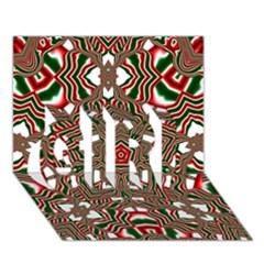 Christmas Kaleidoscope GIRL 3D Greeting Card (7x5)