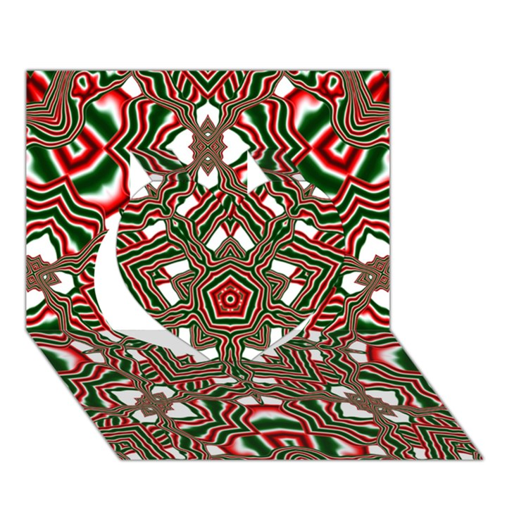 Christmas Kaleidoscope Heart 3D Greeting Card (7x5)