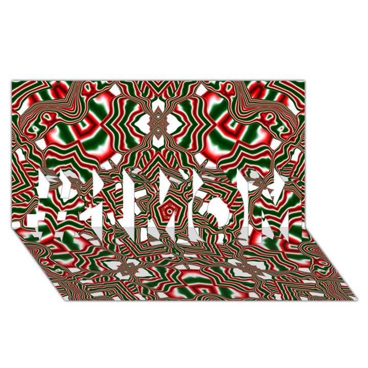 Christmas Kaleidoscope #1 MOM 3D Greeting Cards (8x4)