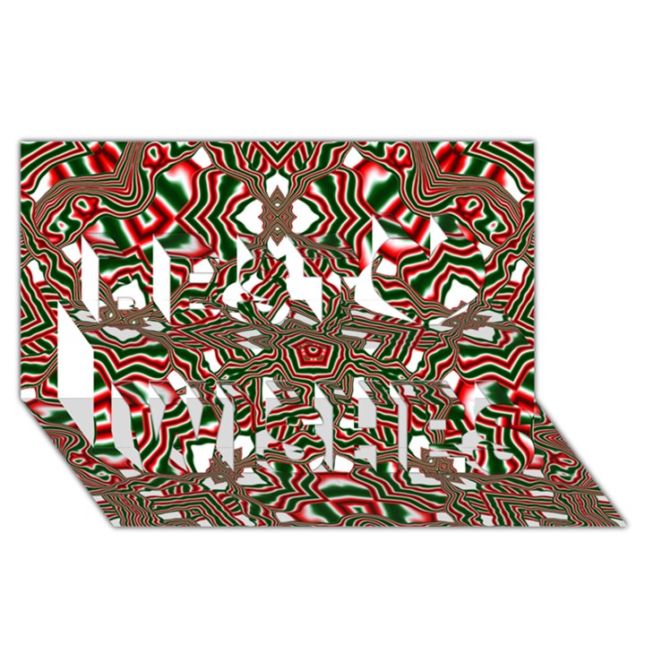 Christmas Kaleidoscope Best Wish 3D Greeting Card (8x4)