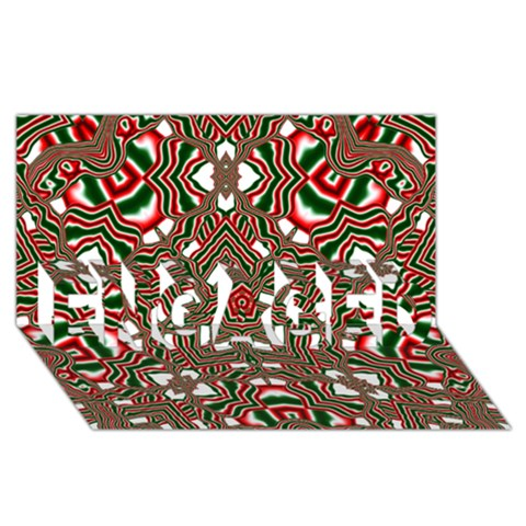 Christmas Kaleidoscope ENGAGED 3D Greeting Card (8x4)