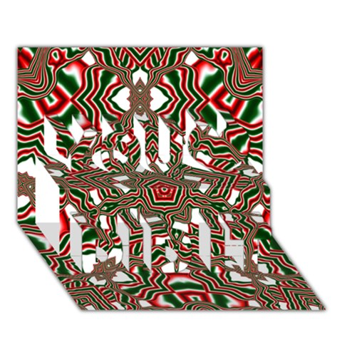 Christmas Kaleidoscope You Did It 3D Greeting Card (7x5)