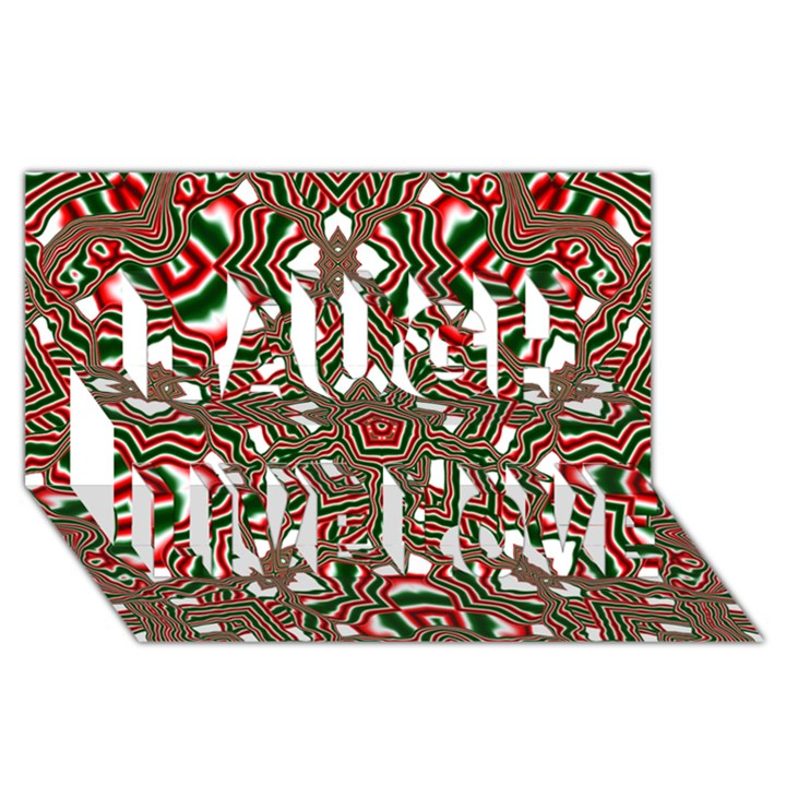 Christmas Kaleidoscope Laugh Live Love 3D Greeting Card (8x4)
