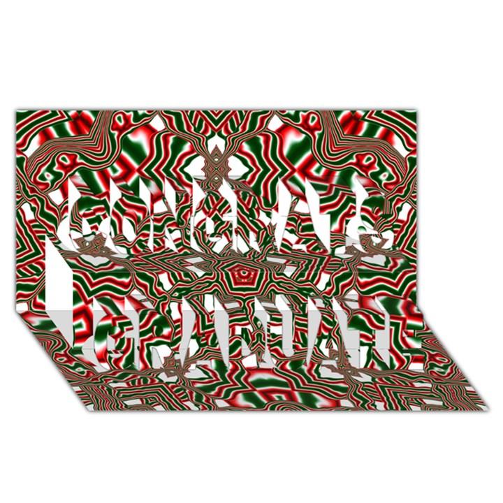 Christmas Kaleidoscope Congrats Graduate 3D Greeting Card (8x4)
