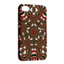 Christmas Kaleidoscope Apple iPhone 4/4S Hardshell Case with Stand View2