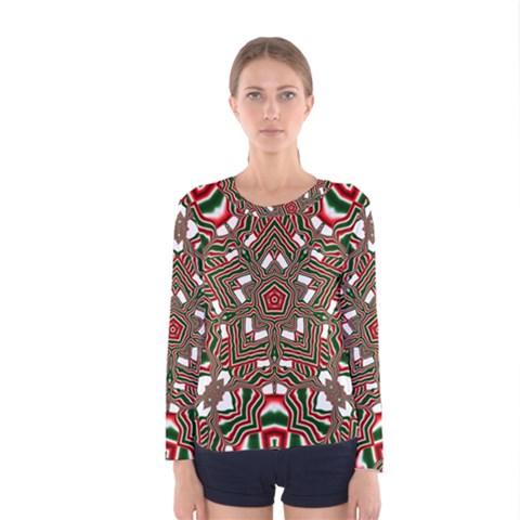 Christmas Kaleidoscope Women s Long Sleeve Tee