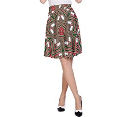 Christmas Kaleidoscope A-Line Skirt