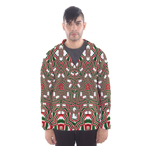 Christmas Kaleidoscope Hooded Wind Breaker (Men)