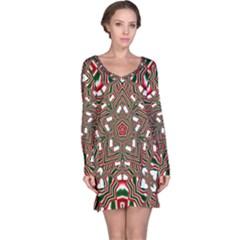 Christmas Kaleidoscope Long Sleeve Nightdress