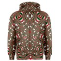 Christmas Kaleidoscope Men s Zipper Hoodie View1