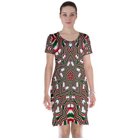 Christmas Kaleidoscope Short Sleeve Nightdress